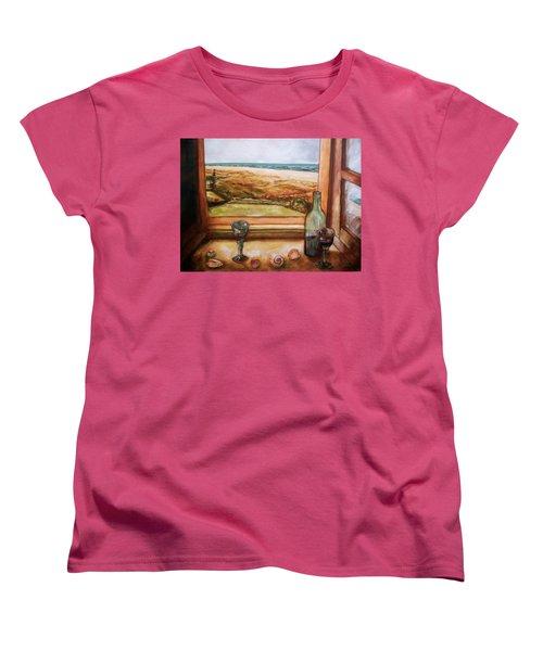 Beach Window Women's T-Shirt (Standard Cut) by Winsome Gunning