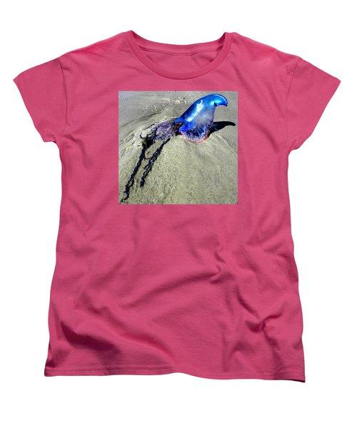 Beached Jellyfish 000 Women's T-Shirt (Standard Cut) by Chris Mercer