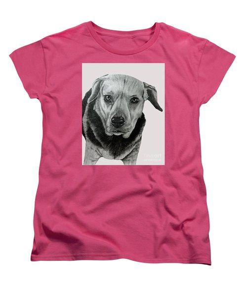Beagle-shepherd Mix Women's T-Shirt (Standard Cut) by Terri Mills