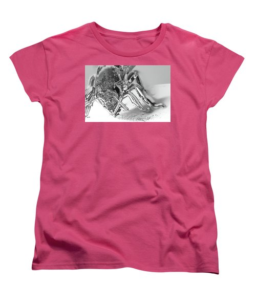 Women's T-Shirt (Standard Cut) featuring the photograph Bee In Macro Chrome by Micah May