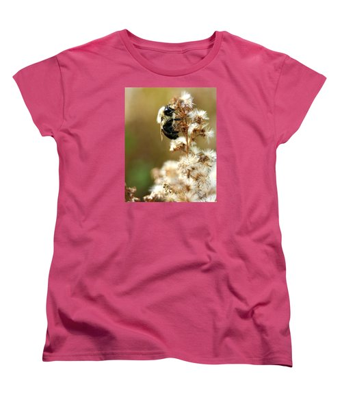 Bee On Goldenrod Women's T-Shirt (Standard Cut)