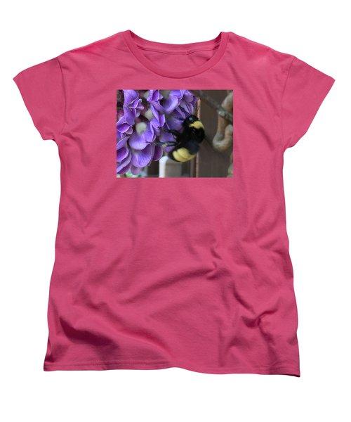 Bee On Native Wisteria I Women's T-Shirt (Standard Cut)