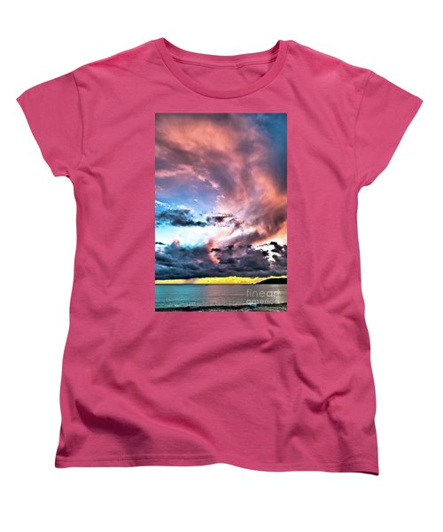 Women's T-Shirt (Standard Cut) featuring the photograph Before The Storm Avila Bay by Vivian Krug Cotton