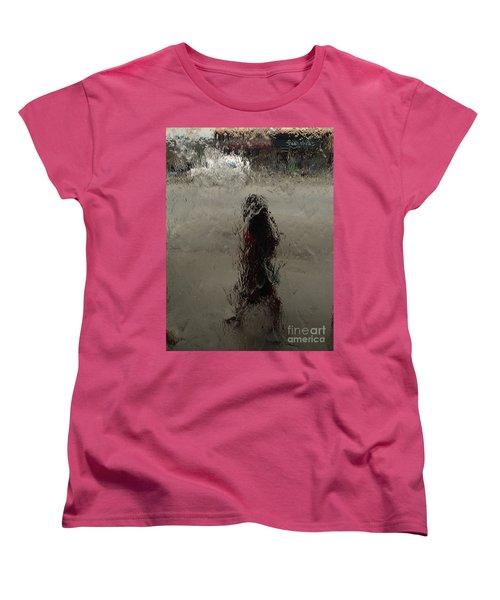 Women's T-Shirt (Standard Cut) featuring the photograph Behind Glass by Trena Mara