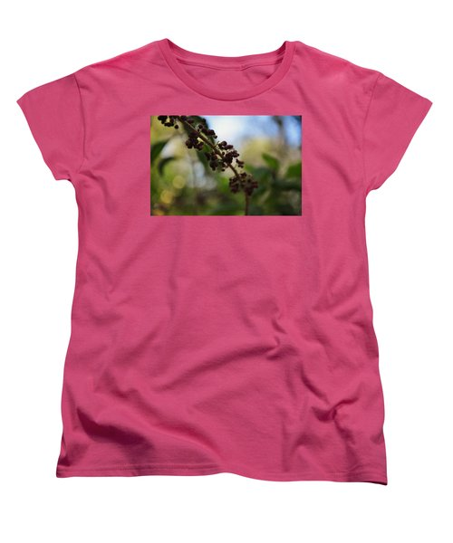 Women's T-Shirt (Standard Cut) featuring the photograph Berry Branch by Artists With Autism Inc
