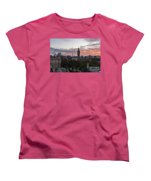Big Ben London Sunrise Women's T-Shirt (Standard Cut) by Mike Reid