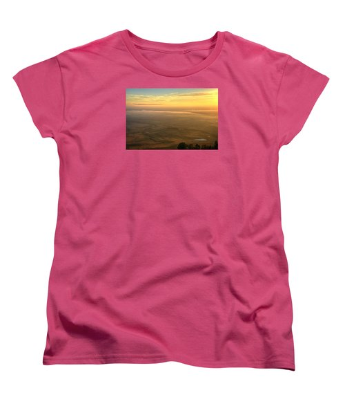 Bighorn Sunrise Women's T-Shirt (Standard Cut) by Fiskr Larsen