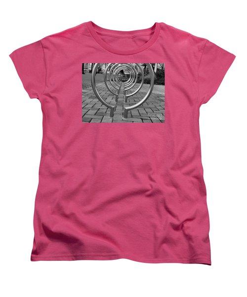 Bike Rack Black And White Version Women's T-Shirt (Standard Cut) by John S
