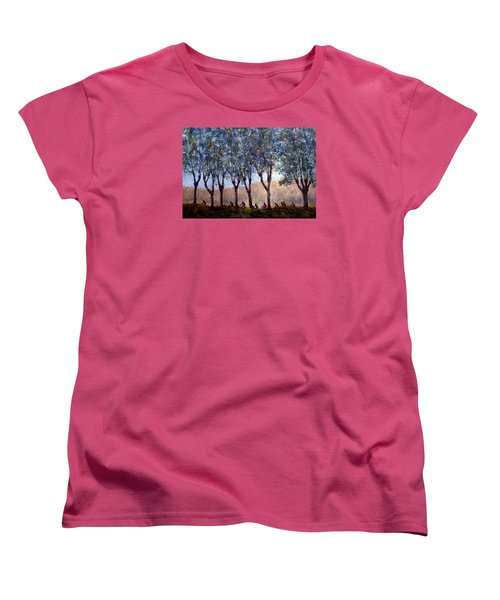 Bikers Of Burgundy Women's T-Shirt (Standard Cut)