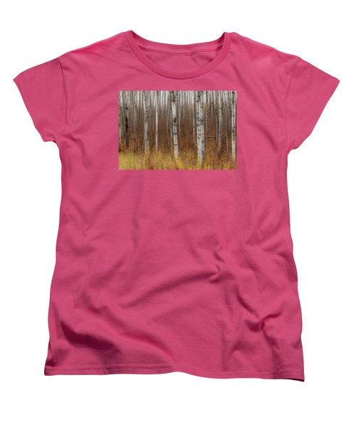 Birch Trees Abstract #2 Women's T-Shirt (Standard Cut) by Patti Deters