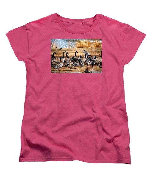 Bird Gang Wars Women's T-Shirt (Standard Cut) by Sumoflam Photography