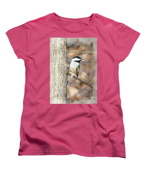 Women's T-Shirt (Standard Cut) featuring the photograph Bird@seed by Robert Pearson