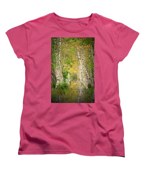 Women's T-Shirt (Standard Cut) featuring the photograph Birtch Row  by Emmanuel Panagiotakis