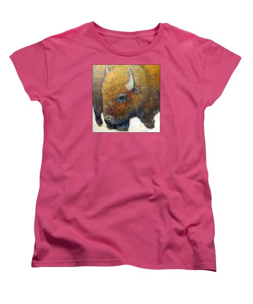 Bison For T-shirts And Accessories Women's T-Shirt (Standard Cut) by Loretta Luglio