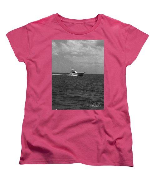 Black And White Boating Women's T-Shirt (Standard Cut) by WaLdEmAr BoRrErO