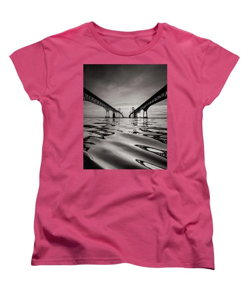 Women's T-Shirt (Standard Cut) featuring the photograph Black And White Reflections by Jennifer Casey