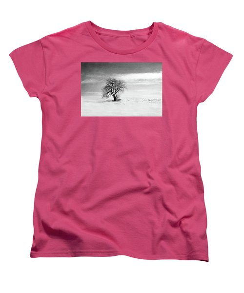 Black And White Tree In Winter Women's T-Shirt (Standard Cut) by Brooke T Ryan