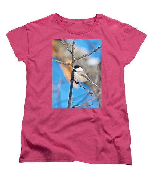 Black Capped Chickadee 1140 Women's T-Shirt (Standard Cut) by Michael Peychich