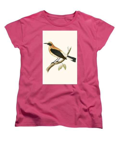 Black Eared Wheatear Women's T-Shirt (Standard Cut) by English School