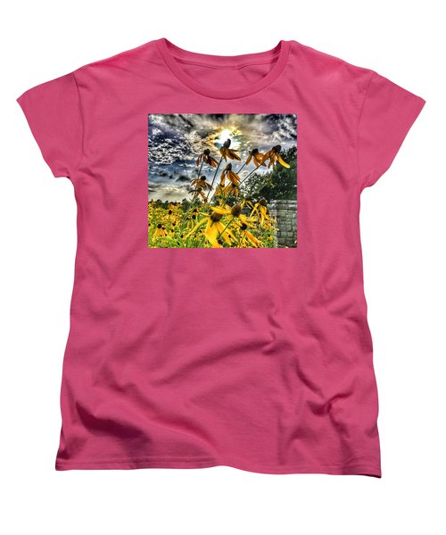 Women's T-Shirt (Standard Cut) featuring the photograph Black Eyed Susan by Sumoflam Photography