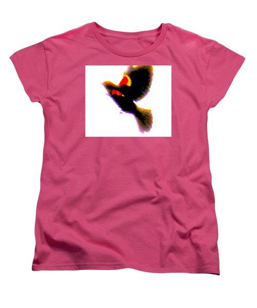 Blackbird Impressionism Women's T-Shirt (Standard Cut) by Veronica M Gabet