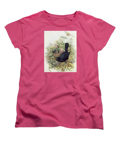 Blackbird,  Women's T-Shirt (Standard Cut) by John Gould