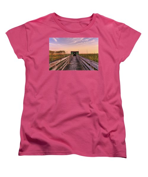 Women's T-Shirt (Standard Cut) featuring the photograph Blackwater Blind by Jennifer Casey