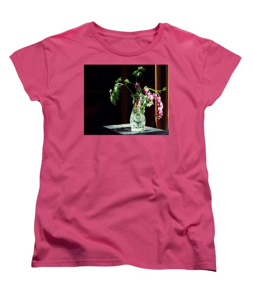 Bleeding Heart Bouquet Women's T-Shirt (Standard Cut) by Joy Nichols