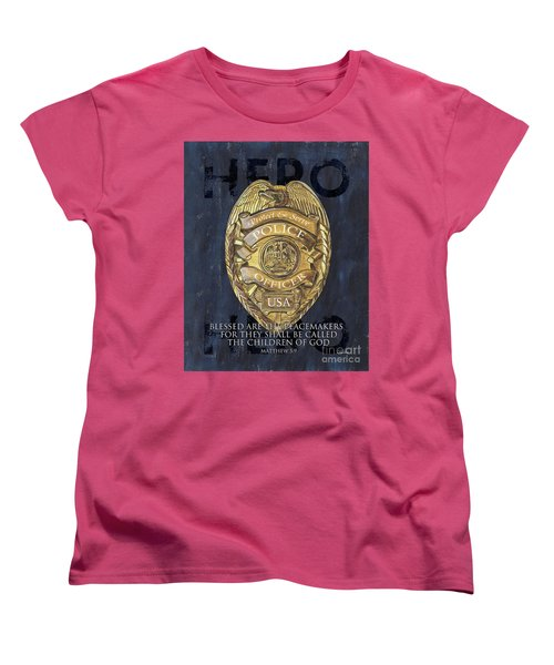 Blessed Are The Peacemakers Women's T-Shirt (Standard Cut) by Debbie DeWitt