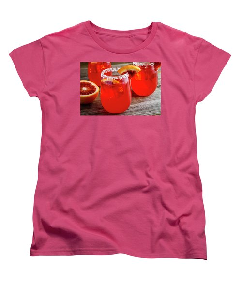 Women's T-Shirt (Standard Cut) featuring the photograph Blood Orange Margaritas by Teri Virbickis