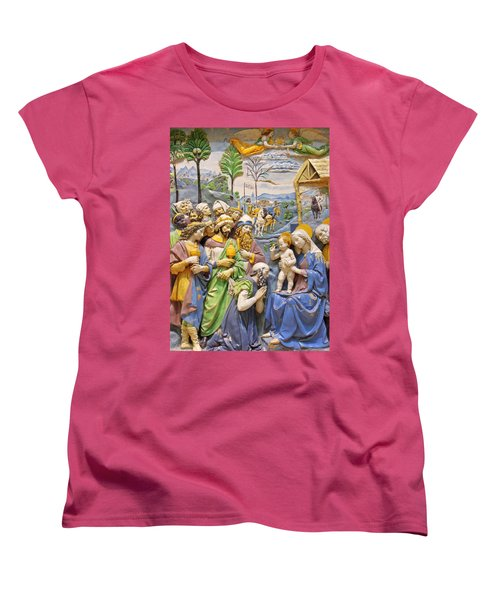 Women's T-Shirt (Standard Cut) featuring the photograph Blue And Yellow by Munir Alawi