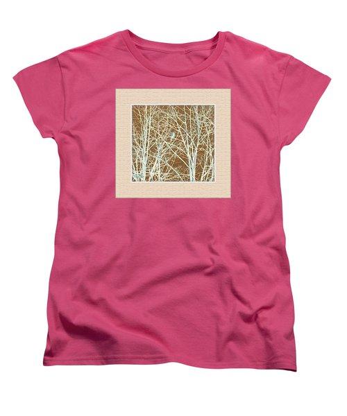 Blue Bird In Winter Tree Women's T-Shirt (Standard Cut) by Felipe Adan Lerma