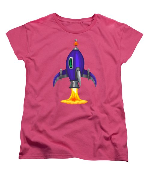 Blue Bomber Rocket Women's T-Shirt (Standard Cut) by Brian Kemper