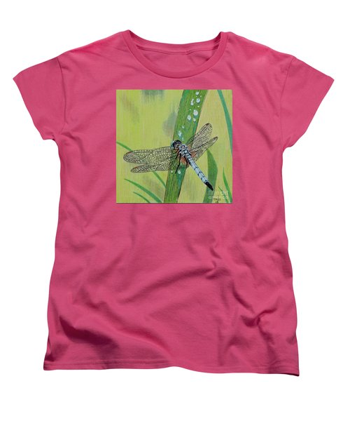 Blue Dasher Women's T-Shirt (Standard Cut) by Terri Mills