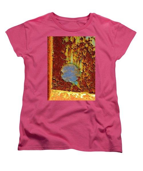 Blue Dot Metal Women's T-Shirt (Standard Cut) by Jerry Sodorff