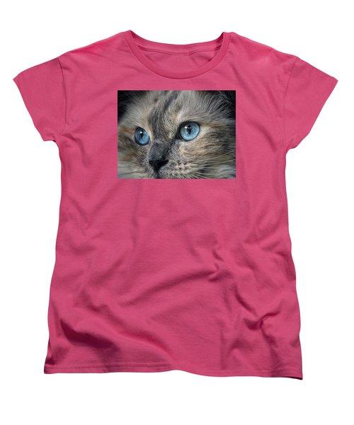 Women's T-Shirt (Standard Cut) featuring the photograph Blue Eyed Girl by Karen Stahlros