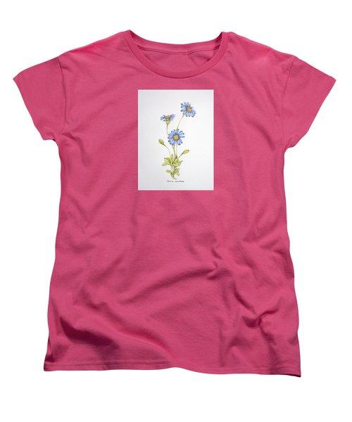 Blue Flower Women's T-Shirt (Standard Cut)