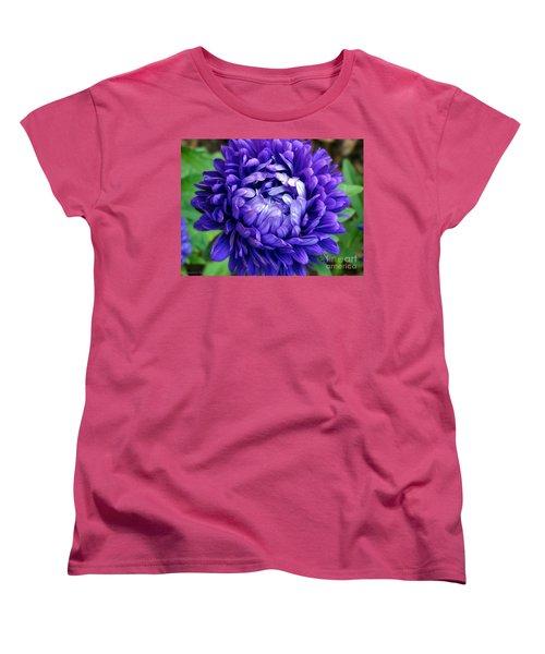Women's T-Shirt (Standard Cut) featuring the photograph Blue Petals by Gena Weiser