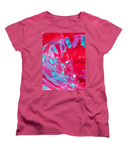 Blue Splash Women's T-Shirt (Standard Cut) by Samantha Thome