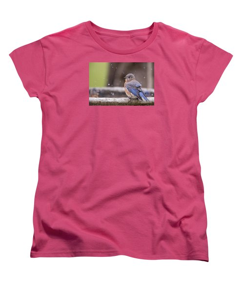 Bluebird Bubble Bath Women's T-Shirt (Standard Cut) by Bonnie Barry