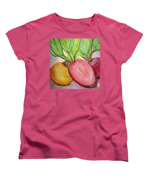 Women's T-Shirt (Standard Cut) featuring the painting Bold Beets by Kim Nelson
