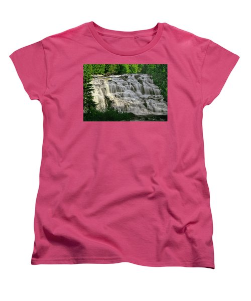 Women's T-Shirt (Standard Cut) featuring the photograph Bond Falls - Haight - Michigan 001 by George Bostian