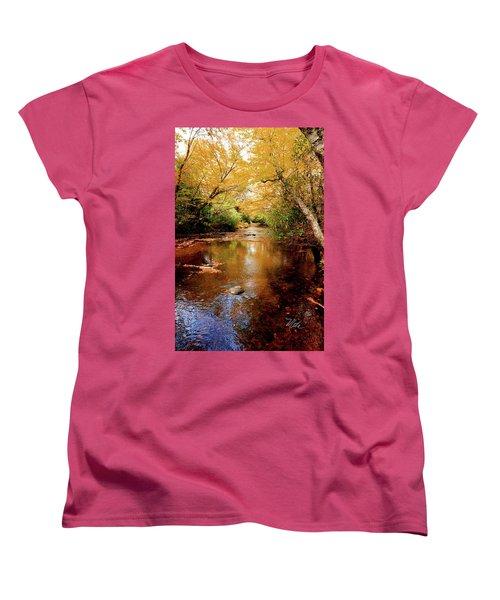 Women's T-Shirt (Standard Cut) featuring the photograph Boone Fork Stream by Meta Gatschenberger