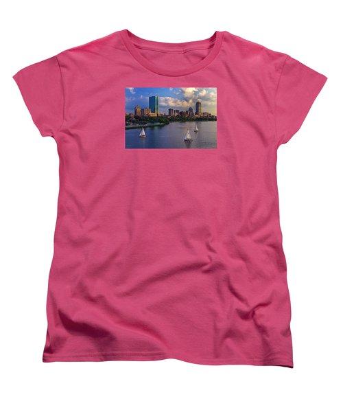 Boston Skyline Women's T-Shirt (Standard Cut)