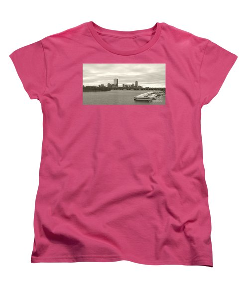 Boston View Women's T-Shirt (Standard Cut) by Raymond Earley