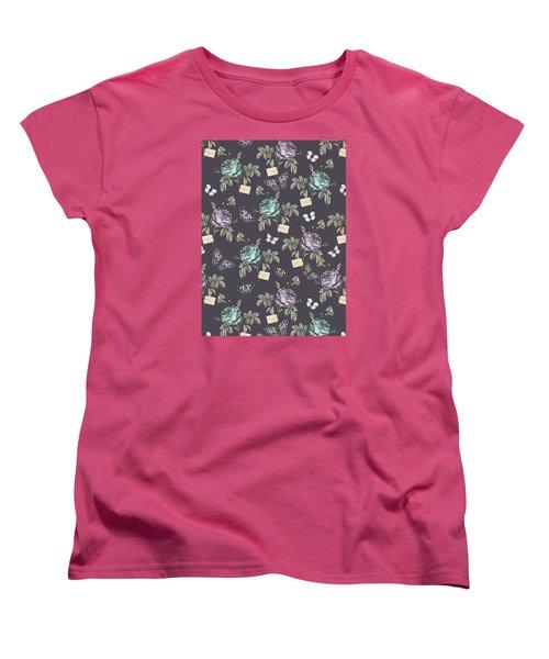 Botanical Roses Women's T-Shirt (Standard Cut) by Stephanie Davies