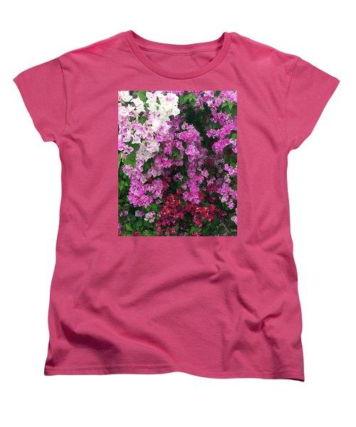 Bougainville Flowers In Hawaii Women's T-Shirt (Standard Cut) by Karen Nicholson