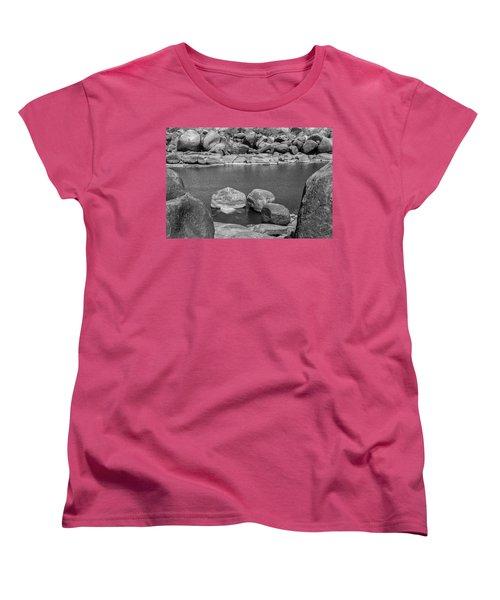 Women's T-Shirt (Standard Cut) featuring the photograph Boulders Of Tungabhadra, Hampi, 2017 by Hitendra SINKAR
