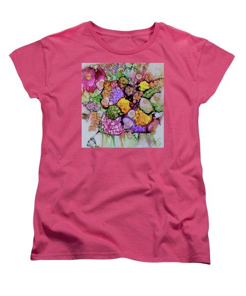 Bouquet Of Blooms Women's T-Shirt (Standard Cut) by Joanne Smoley