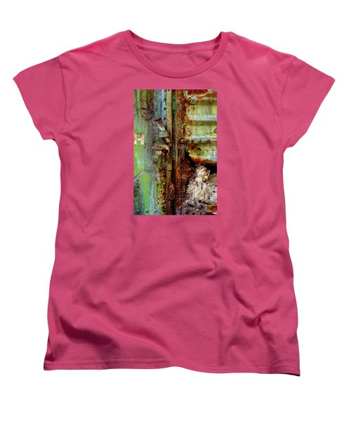 Women's T-Shirt (Standard Cut) featuring the photograph Boxcar 1 by Newel Hunter